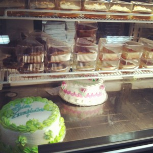 Made to order cakes at John's Bakery, Bocas del Toro