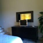 Flatscreen in Master Bed