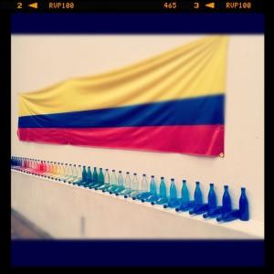 Impromptu Colombian Pride Art in Usuquen Neighborhood Bogota