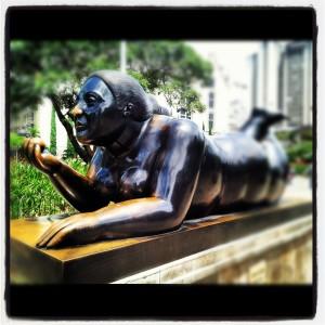 Reclining Lady Botero Statue | Botero Plaza Medellin